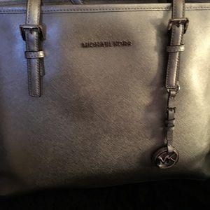 Micheal Kors silver glitter Pocketbook/tote